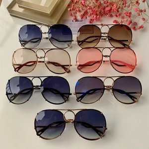 Wholesale New Designer CHLOE Fashion Cool Polarized Sunglasses Hipster Reflective Sunglasses Necessary Drivers Driving Pilot Size 61 15-140