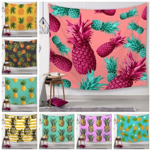 Wholesale 25 Styles Pineapple Series Wall Tapestries Digital Printed Beach Towels Bath Towel Home Decor Tablecloth Outdoor Pads CCA11587 A