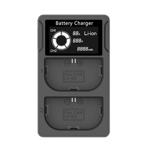 Battery Charger for Canon EOS 5D Mark II III IV 5DS, 5DS R, 6D, 60Da, 7D, 70D, 80D, 7D Mark II More Cameras