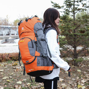 Wholesale 60L Waterproof Outdoor Bags Hiking Backpack Camping Mountain Climbing Cycling Backpack Outdoor Sport Bag with Rain Cover