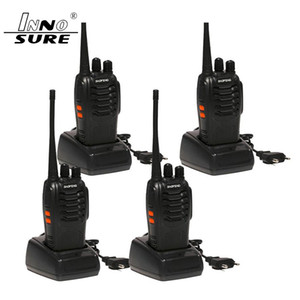 escaneamento de rádio venda por atacado-4pcs Baofeng BF S Walkie Talkie W Handheld s bf UHF W MHz CH Two Way Monitor portátil de digitalização Radio Ham CB