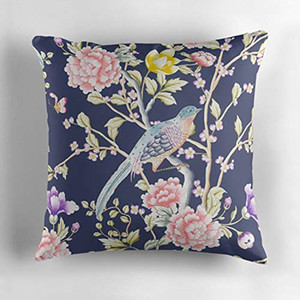 Wholesale Flower and Birds Pattern Decorative Throw Pillow Cover Square Indoor Outdoor Cushion Cover Decor Pillowcase for Couch Sofa Pillow Case