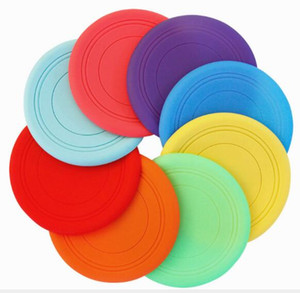 Wholesale Dog Frisbee Edge Silicone Pet Frisbee Training Dog Toys Bite Resistant Floating Pet Supplies W1258