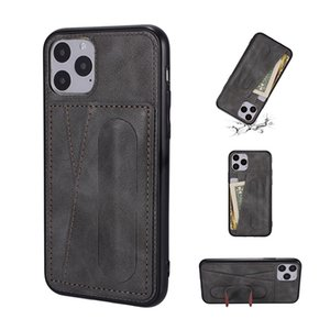 Wholesale pro build for sale - Group buy PU leather Phone Case For iPhone SE pro xs max plus with Built in Kickstand Wallet case for Samsung