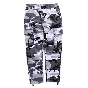 Wholesale Men Fashion Brand Sweatpants Mens High Quality Pants Sports Camouflage Military Overalls Button Loose Trousers Clothing Size S XL