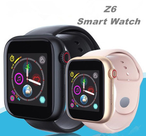 Wholesale Newest Z6 Smartwatch For Apple Iphone Smart Watch Bluetooth Watches With Camera Supports SIM TF Card For Android Smart Phone