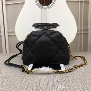 Wholesale New global classic luxury matching sheepskin leather shoulder bag best quality metal chain handbag size cm cm cm