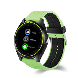 Wholesale Hot sale For apple iPhone HR Smart Watch with Camera Heart Rate Monitor Bluetooth Smartwatch SIM Card Wristwatch for Android Phone