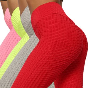 Wholesale Honeycomb Yoga Leggings High Waist Active Wear Sexy Exercise Capris Anti-shrink Lift Butts Fitness Pants Women Hexagon Yoga Outfits
