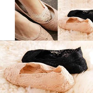 Wholesale 2019 Fashion Bamboo fiber Women Lace Socks Antiskid Invisible Liner Slipper Low Cut No Show Short Socks calcetines mujer