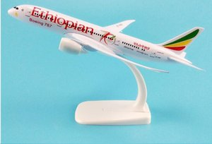 Wholesale 20cm Metal Model Airplane Air ETHIOPIAN Airlines Boeing B787 th Airways Plane Model W Stand Aircraft Kids Gift