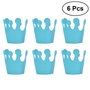 Wholesale 6 Birthday Hat Paper Cute Crown Kids Party Cap Prince Headgear Princess Headgear for Decoration Festive Supplies