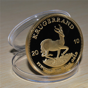 Free Shipping 3pcs lot,2010 South African Krugerrand bullion Gold 1 oz Coin - Great Collection,Metal Handicraft With Mirror Effect,Gift