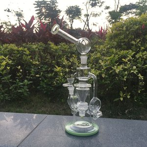 Wholesale glass oil pipes for smoking manufacturer direct sale, 13.77inch 5mm thick transparent glass glass bong interface