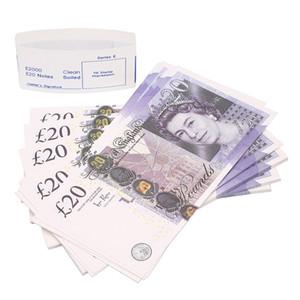 Best Prop Pretend UK Money Paper copy banknote prop money 100pcs pack