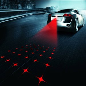 Wholesale Universal LED Car Motorcycle Laser Fog Light Anti Collision Tail Lamp Auto