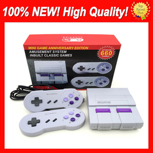 Wholesale handheld video game systems resale online - Super Famicom Mini NES SNES SFC TV Video Handheld Game Console Newest Entertainment System Games Console English Retail Box New