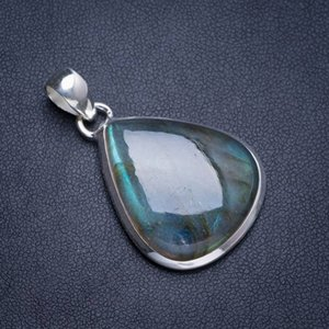Wholesale Natural Blue Fire Labradorite Handmade Unique Sterling Silver Pendant quot Y5192