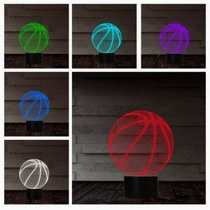 Wholesale Basketball Night Light Kid Bedside Lamps Touch Table Lamp D Led Lights Creative Novelty New Arrival fl O1