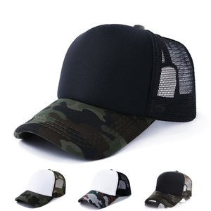 Wholesale Camouflage Trucker Caps Blank Baseball Mesh Hats Adjustable Snapbacks For Adults Mens And Womens Sun Hats