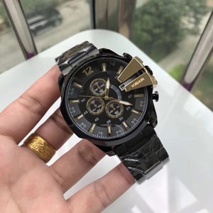 Wholesale 52mm dial big bang men watch high quality Full Stainless Steel band all sub dials work stopwatch wrist wathes for mens best gift Waterproof