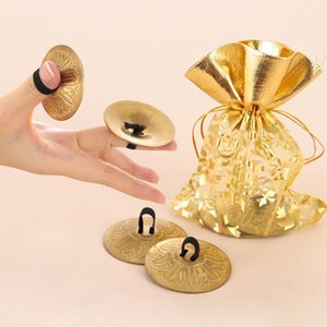Wholesale 2 Pair Professional Women Bellydance Accessories Jewellery Copper Finger Cymbals Belly Dance Zills