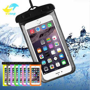 Wholesale Vitog Dry Bag Waterproof case bag PVC universal Phone Bag Pouch With Compass Bags For Diving Swimming smartphones up to inch