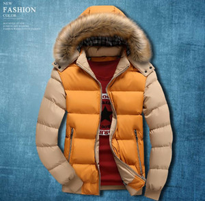 Wholesale Mens Solid Winter Down Coats Hooded Spring Autumn Warm Thick Warm Down Jackets Designer Clothes Coats