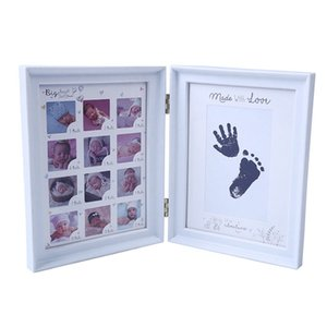 My First Year Baby Gift Kids Birthday Gift Home Family Decoration Ornaments 12 Months Picture Photo Frame with Craft Ink Pad on Sale