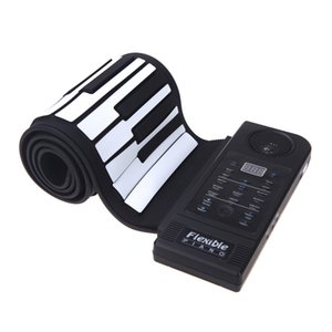 Wholesale New Flexible Piano Keys Electronic Piano Keyboard Silicon Roll Up Piano Sustain Function USB Port with Loud Speaker US plug