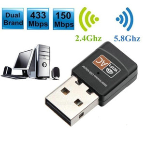 Wholesale CHIPAL USB Adapter wifi 600MB S wireless internet access key PC network card Dual Band 5Ghz Lan USB Dongle Ethernet receiver AC