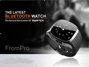 Wholesale M26 Smart Bluetooth Watch with LED display Dial SMS Reminding Music Player Pedoeter wristwatch for Mobile Phone for iPhone Andriod