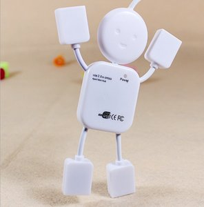 Cute Human Shape Laptop Notebook PC USB 2.0 Hub 4 Port Male USB Split Extention on Sale
