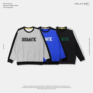 Men's Wear|Daily Series 2019 Spring New College Retro Wind Men's Round Neck Hoodie Sweater Collection on Sale
