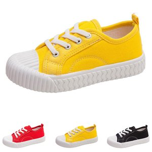 Wholesale biscuit color resale online - Hotsale Autumn new kids canvas shoes girls boys breathable casual candy color children s biscuit shoes size