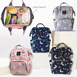 Wholesale designer backpack diaper bags for sale - Group buy Large Capacity Baby Diaper Backpack Multifunctional Unicorn Mommy Changing Bag Mummy Backpack Bottle Mother Maternity Backpacks DBC DH1099