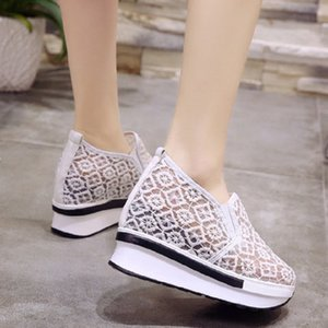 2019 increased in the summer, versatile flat-bottomed bud silk yarn, white shoes, casual sets of high-heeled shoes, women's shoe