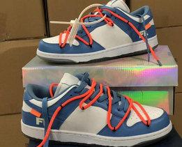 Wholesale FUTURA x SB Dunk Low OW Skateboarding Shoes Designer Fashion Blue Orange Hot Ins Mens Women Sport Casual Sneakers