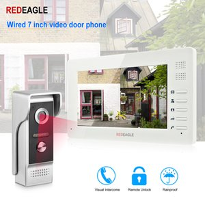 Wholesale REDEAGLE Wired Video Door Phone inch TFT LCD Color Screen Weatherproof Night Vision Doorbell Camera For Apartment Villa