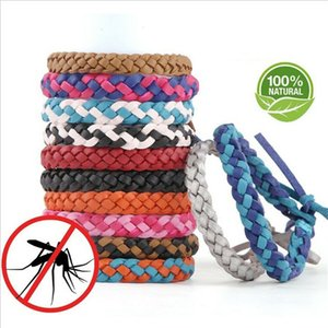 Mosquito Repellent Bracelet Anti-mosquito Wristband Braided PU Leather Insect Repellent Band Bug Insect Protection novelty iterms LJJA2292