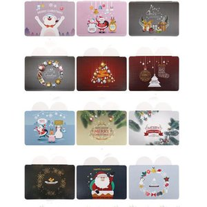 Wholesale 20Pcs Lovely Heart Snowflake Santa Claus Hat Christmas Greeting Cards Handmade Message Card DIY Party Invitation Cards Xmas Gift