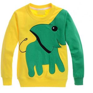 Wholesale New year boy girl Autumn New Cartoon Elephant Printed Long Sleeve Children Sweater Pullover Sweatshirt year kids clothes