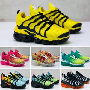 2019 High Quality Childrens Athletic TN Shoes Kids Boys Basketball Shoes Child Huarache Legend Blue Designer Sneakers