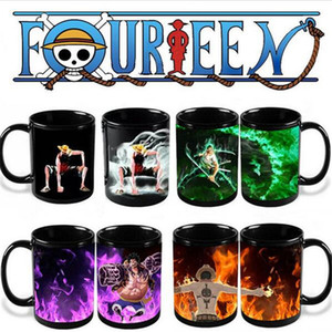 Wholesale One Piece Cups Ace Zoro LuffyHot Hot Cold Temperature Sensitive Color Changing Coffee Tea Milk Mug Cup Y308
