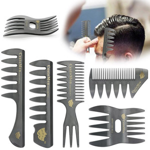 Barber Oil Head Comb Men CestoMen Handle Grip Large Tooth Detangling Curly Hair Comb Beard Hairdressing Wide Teeth Comb set AAA2046