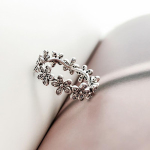Wholesale pandora ring flowers for sale - Group buy NEW Authentic Sterling Silver Women Wedding RING Set Original Box for Pandora CZ Diamond Flowers Fashion Luxury Ring