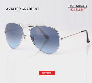 2019 Brand Steampunk gradient lens uv400 Sunglasses Aviation Pilot Vintage Retro Eyewear gafas Women Men Brand Fashion gradient Sun Glass