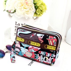Wholesale Fashion Wallet Brand Custom Zipper High Quality Simple Print Clutch Bag Interior Multi layer Design Cute Mini Korean Version2019