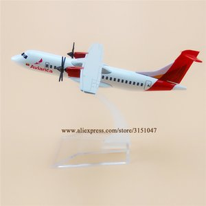 Wholesale Alloy Metal Air Airlines Airplane Avianca Atr Airways Plane Model Stand Aircraft Kids Gifts cm Q190522