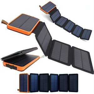 Wholesale folding Solar panel W W sunpower battery mah solar celles universal Phones power bank Charger Outdoors External